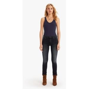 MOTHER THE HIGH WAISTED LOOKER ANKLE JEANS